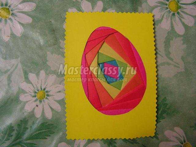 пасхальная открытка айрис – фолдинг