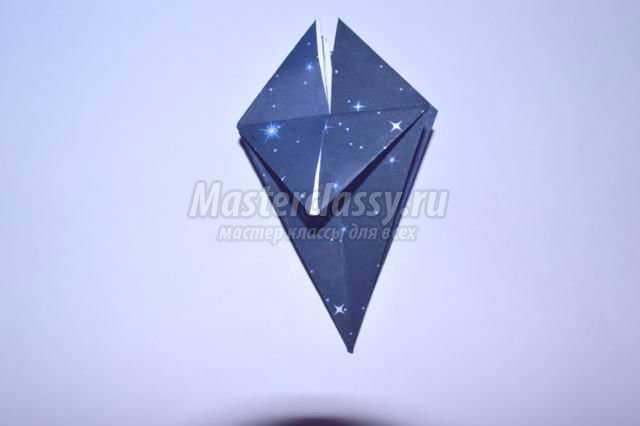 оригами. Подсвечник своими руками