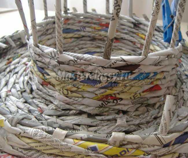 пасха подставка из газетных трубочек