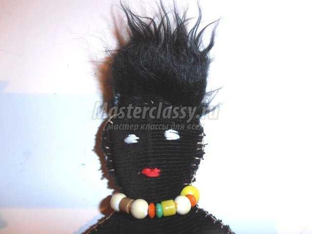Мягкая игрушка кукла Папуас