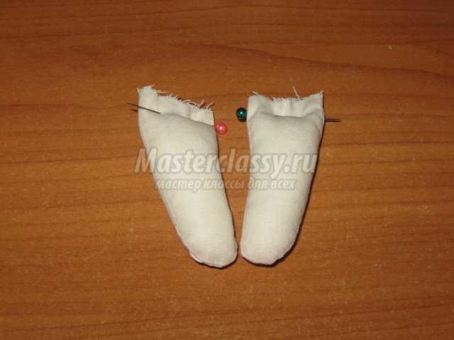 Текстильная игршука ангел в миниатюре