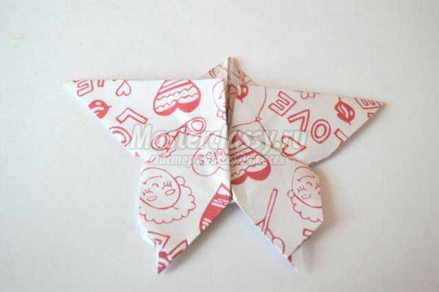 оригами для детей. Бабочка