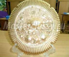 тарелка из гипса