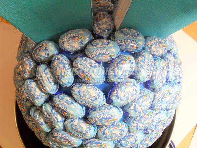поделки из конфет. Крош
