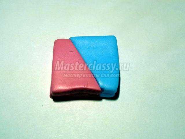 серьга для пирсинга из полимерной глины. Лотос