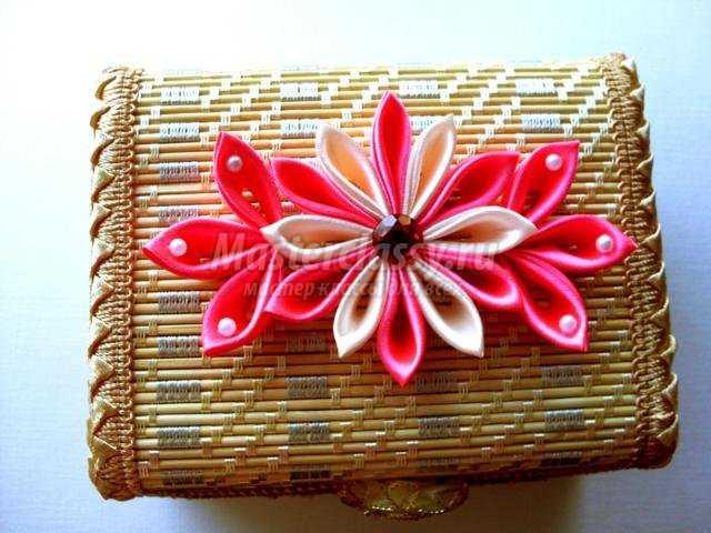Шкатулка канзаши пошаговое фото