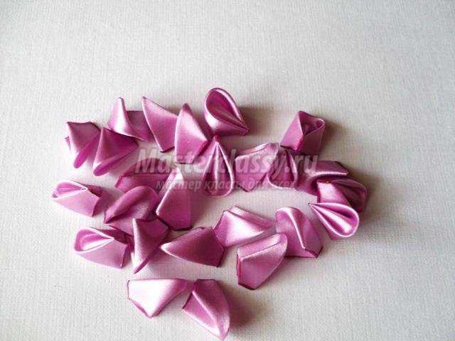 шпильки для волос с канзаши цветами