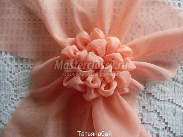цветы из ткани. Гортензия в горшочке