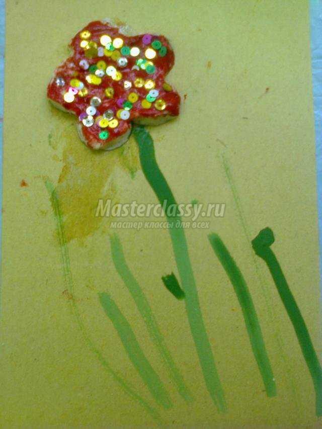 цветочек из соленого теста