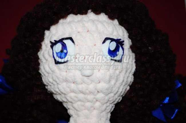 вязаная кукла из плюша ксюша