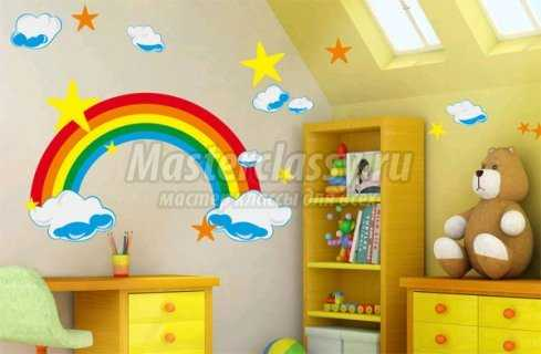 Как расписать стены в детской комнате?