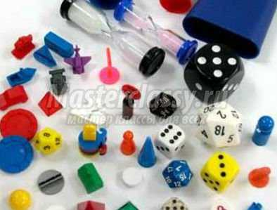кубики и фишки для настольной игры