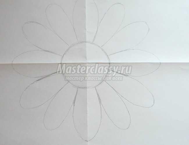 панно ромашка или принцип создания дизайнерской бумаги мастер-класс