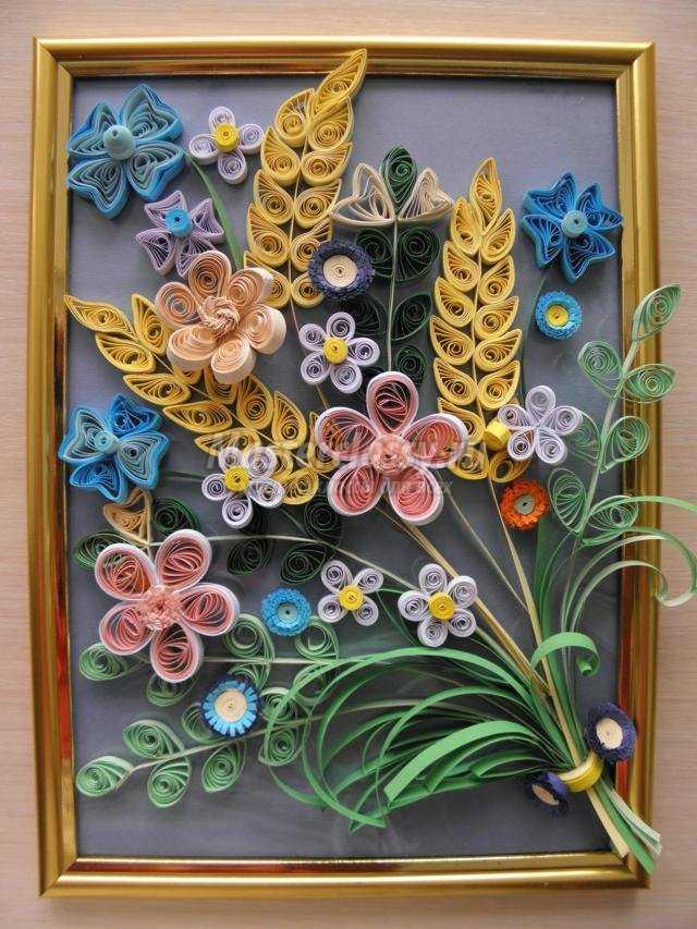 Цветы квиллинг букеты со схемами