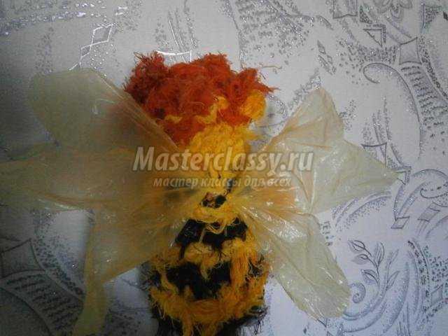 вязаные игрушки спицами. Пчелки