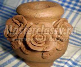 ваза из глины