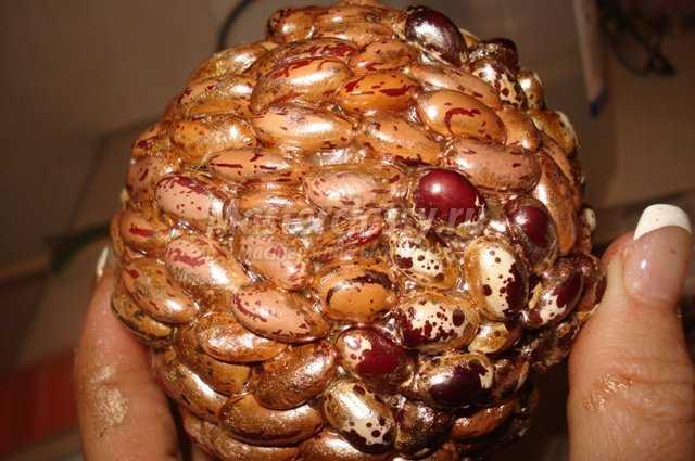Топиарий из фасоли