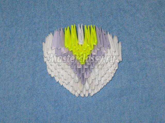 модульное оригами. Сапожок