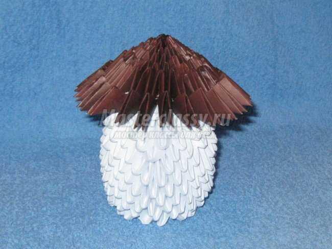 Старичок-боровичок. Модульное оригами