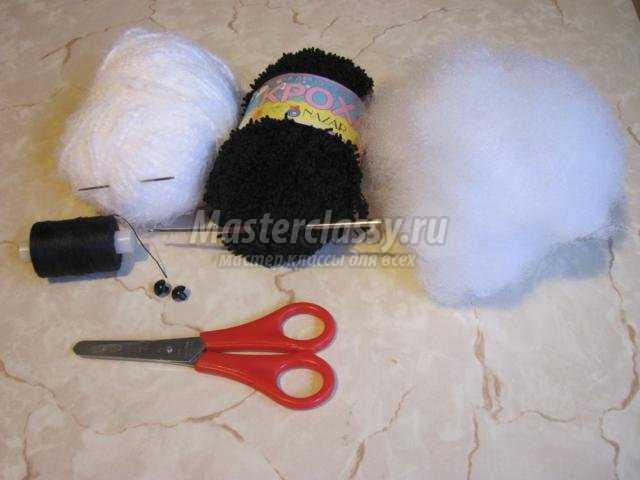 вязание игрушек крючком. Панда
