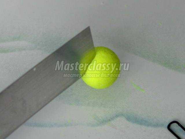 шпильки из полимерной глины. Теннисные мячи
