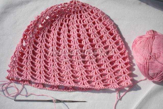 вязание крючком летняя шапочка панамка для девочки мастер класс с