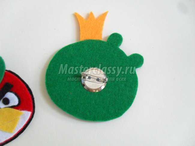 Детские брошки Angry Birds из фетра