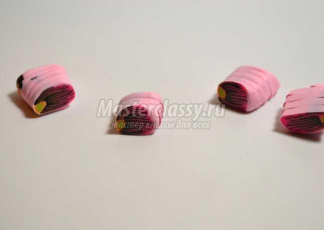 Серьги из пластики – Цветы фото