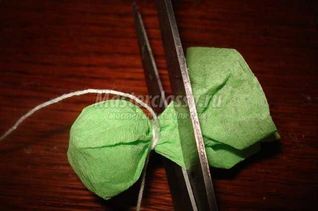 Топиарий из бумаги без ножки