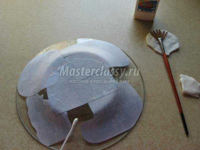 тарелочка-рамочка для фото в технике декупаж