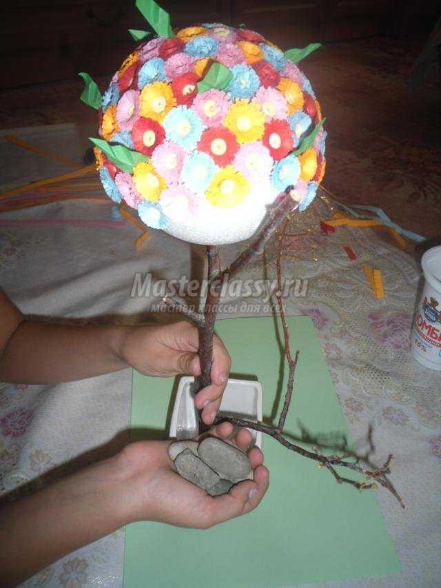 цветущее дерево в технике квиллинг