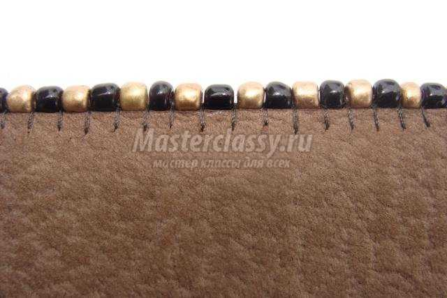 кожаный браслет своими руками с яшмой