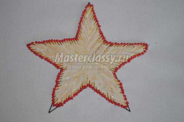 новогодняя звезда из спичек своими руками