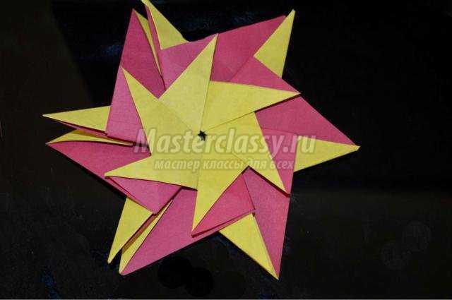 оригами. Звезда из модулей