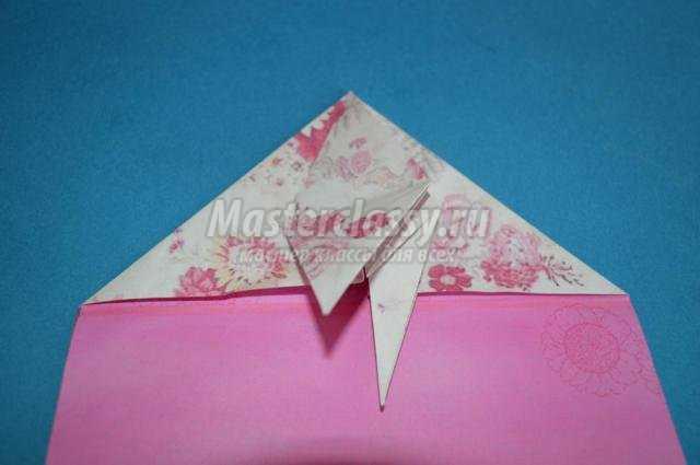 оригами для детей. Павлин