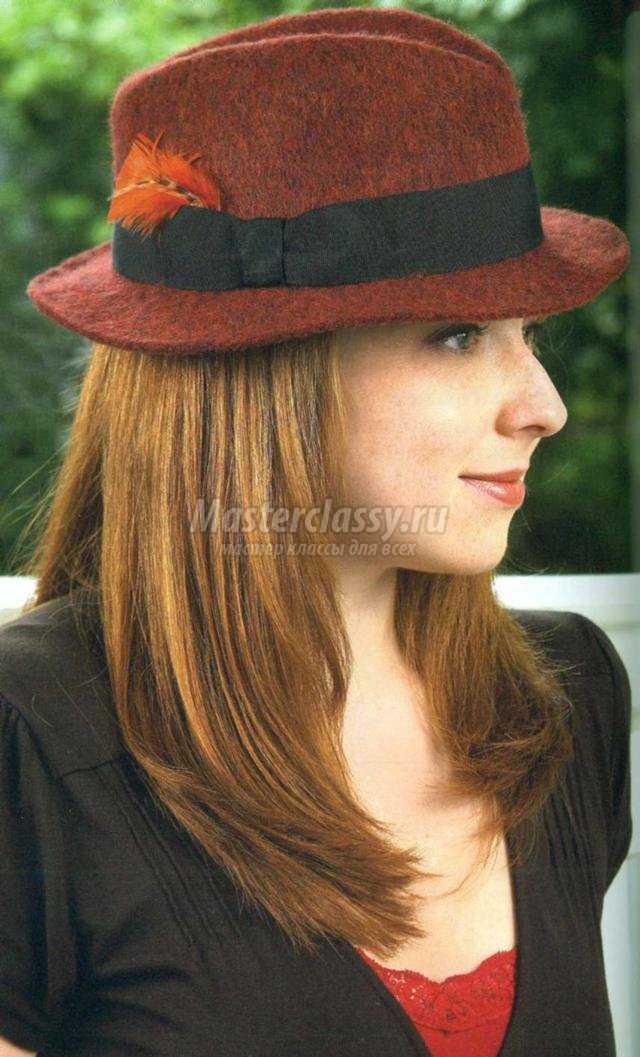 свойлачивание мягкой шляпки