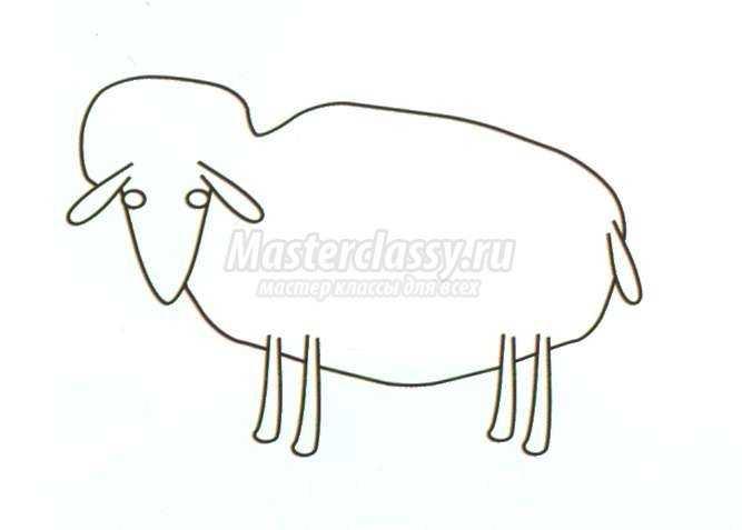 валяние из шерсти. Войлочная овечка