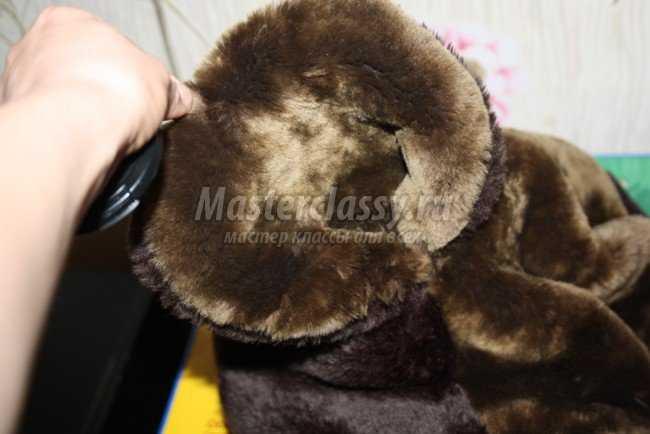 мишку-коврик из шубы