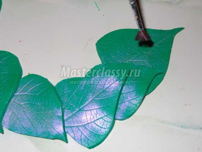орхидеи из полимерной глины фото