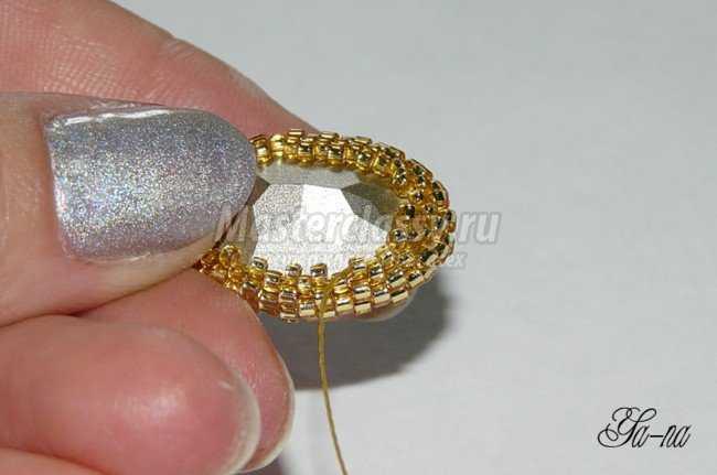оплетание кристаллов Сваровски