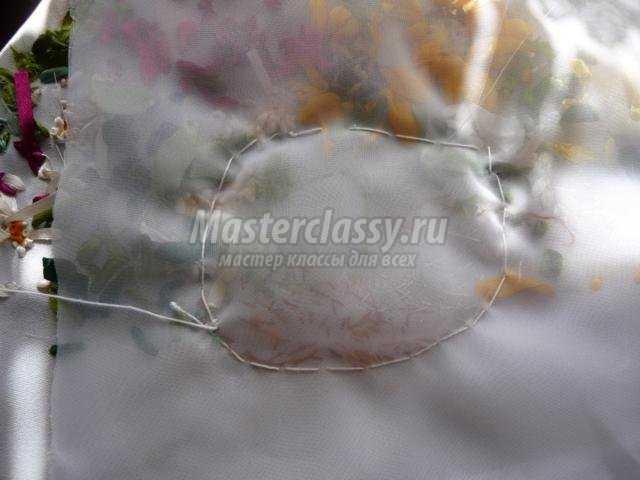 тонировка вышивки лентами