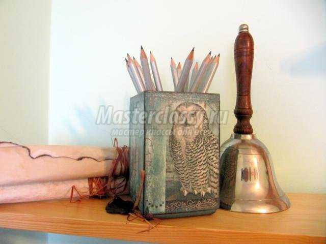карандашницы декупаж фото