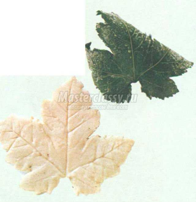 поделки из соленого теста. Листья