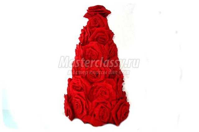 Елочка из роз