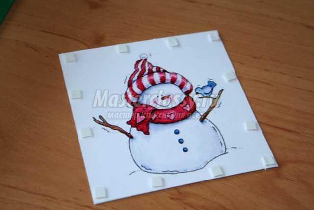 С рождеством открытка своими руками