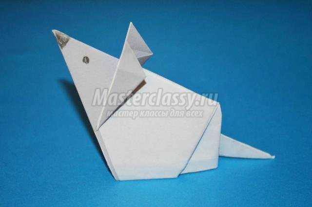 оригами для детей. Мышка