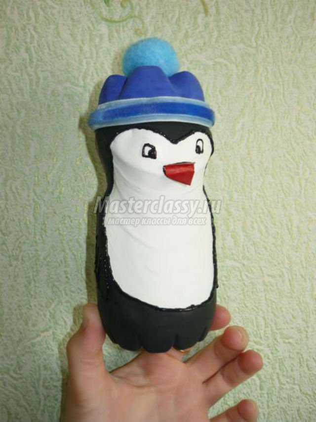 пингвинёнок из бросового материала