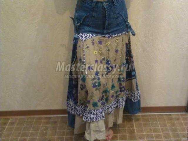 Юбка джинс шитье