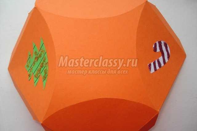 Коробочка для подарка под елочку