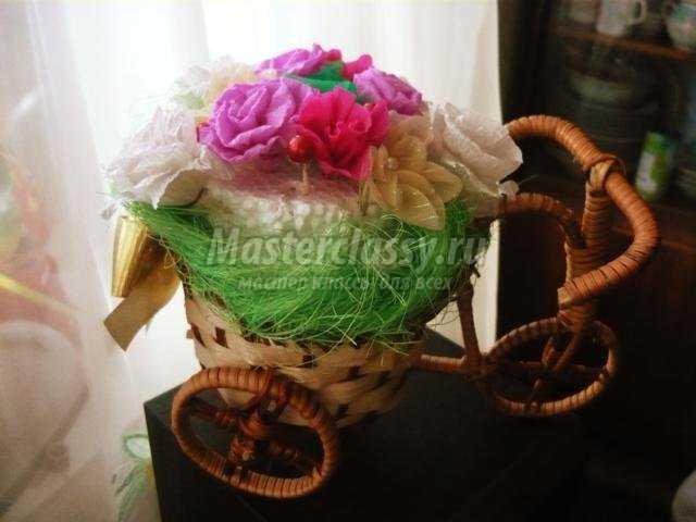 подарки своими руками. Цветочный велосипед